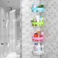 Bathroom-Corner-Rack-Shampoo-Shower-Gel-Organizer-Shelf-Space-Corner-Sucker-Wall-Mounted-Storage-Holder
